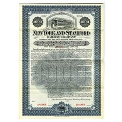 New York and Stamford Railway Co., 1901 Specimen Bond