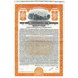 New York, Lackawanna and Western Railway Co., 1923 Specimen Bond