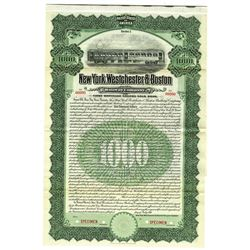 New York, Westchester and Boston Railway Co., 1911 Specimen Bond