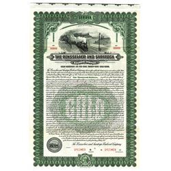 Rensselaer and Saratoga Railroad Co., 1921 Specimen Bond
