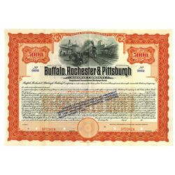 Buffalo, Rochester and Pittsburgh Railway Co., ca.1900-1910 Specimen Bond