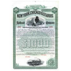 New York, Chicago, and St. Louis Railroad Co., 1887 Specimen Bond