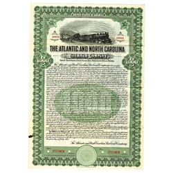 Atlantic and North Carolina Railroad Co., 1917 Specimen Bond