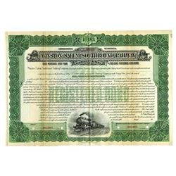 Winston-Salem Southbound Railway Co., ca.1910-1920 Specimen Bond