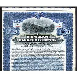 Cincinnati, Hamilton & Dayton Railway Co. 1909. Specimen Bond.
