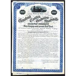Cleveland, Canton, Coshocton & Straitsville Railway Company, 1881 Specimen First Mortgage 7% Bond