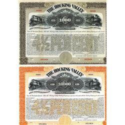 Hocking Valley Railway Co., 1899 Group of 2 Specimen Bonds