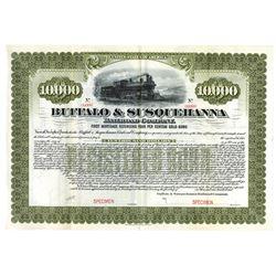 Buffalo and Susquehanna Railroad Co., ca.1900-1910 Specimen Bond