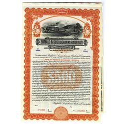 Buffalo and Susquehanna Railroad Corp., 1913 Specimen Bond