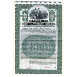 Augusta-Aiken Railway and Electric Corp., 1910 Specimen Bond