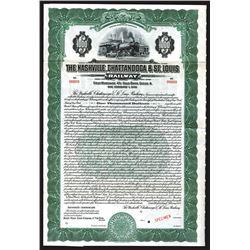 Nashville, Chattanooga & St. Louis Railway Specimen Bond.