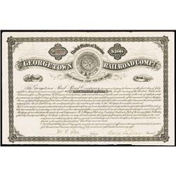 Georgetown Railroad Co., 1878 Issued Bond.