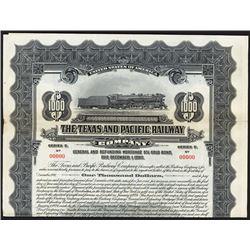 Texas and Pacific Railway Co. 1930 Specimen Bond.