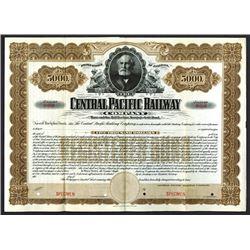 Central Pacific Railway Co. 1899, Specimen $5000, Registered 3 1/2% Gold Bond.