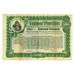 Union Pacific Railroad Co., 1897 Specimen Bond