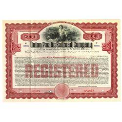 Union Pacific Railroad Co., 1908 Specimen Bond