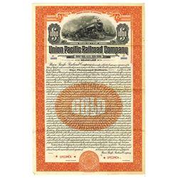 Union Pacific Railroad Co., 1927 Specimen Bond