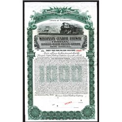 Wisconsin Central Railway Co. Superior and Duluth Division and Terminal, 1906 Specimen Bond