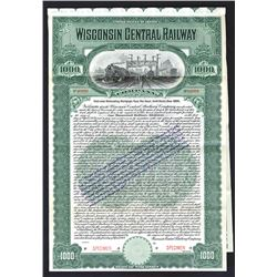 Wisconsin Central Railway Co., 1909 Specimen Bond