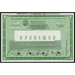 Boston Celtics Limited Partnership Specimen Certificate.
