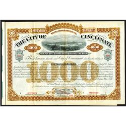 City of Cincinnati. 1881. Specimen Bond.
