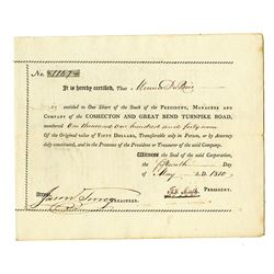 Coshocton and Great Bend Turnpike Road, 1810 Issued Stock