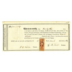President, Managers and Co, of the Sussquehannah and Lehigh Turnpike Road, 1864 Issued Stock