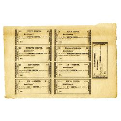 "Brattleboro, Vermont ""Facility"" Obsolete Scrip Sheet of 9 Different Scrip Notes."