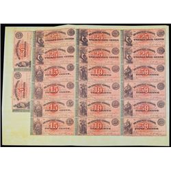Hydeville Company, 1862 Uncut Partially Issued Scrip note Sheet of 20 Notes.