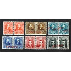Louisiana Law Stamp Specimen Set ca.1870's - Specimen Pairs.