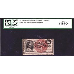 U.S. Fractional Currency, Fr. 1267 15¢ Fourth Issue PCGS New 61PPQ.