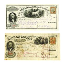 Early New York Drafts, circa 1860s, By National Bank Note Company.