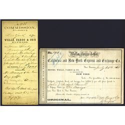 Wells, Fargo & Co. 1861 Certificate for Passage from Galway, Ireland to New York.