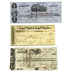 Various Issuers, 1840s-1850s, Trio of Exchanges