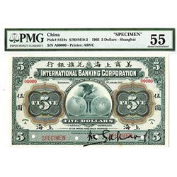 International Banking Corporation, 1905, Specimen Banknote