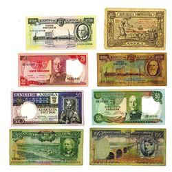 Banco de Angola & Republica Portuguesa. 1921-1973 Issues, Lot of 8