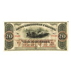 Banco Oxandaburu y Garbino, 1869, Remainder Banknote