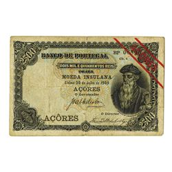 Banco de Portugal, 1909, Issued Banknote