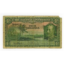Bahamas Government, L.1919 (1930) Issue Banknote.