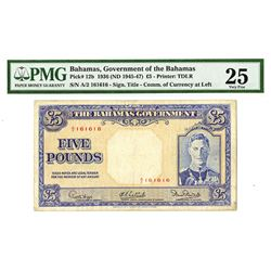 Government of Bahamas, 1936 (1945-1947), Issued Banknote