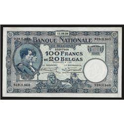 Banque Nationale de Belgique, 1928, Issued Banknote