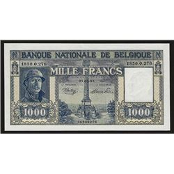Banque Nationale de Belgique, 1945, Issued 1000 Francs