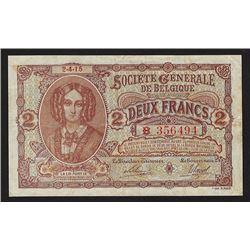 Societe Generale de Belgique, 1915, Issued Banknote