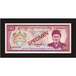 Royal Monetary Authority of Bhutan, ND (1986), Specimen Banknote