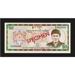 Royal Monetary Authority of Bhutan, ND (2000), Specimen Banknote