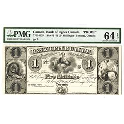 Bank of Upper Canada, 1830-1840, Proof Obsolete Banknote