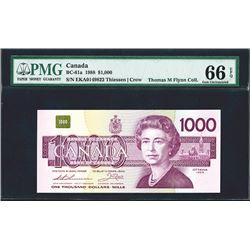 Bank of Canada, BC-61a, $1000, 1988, PMGÊGraded Gem Uncirculated 66 EPQÊ