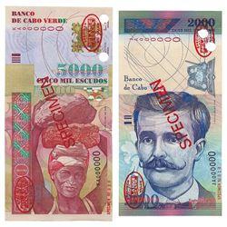 Banco de Cabo Verde, 1999-2000, Pair of TDLR Specimens
