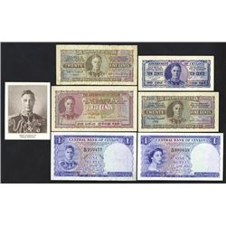 Government of Ceylon, 1942-52, Six Issued Notes