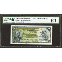 National Bank of the Danish West Indies 1905 Issue Specimen Banknote.